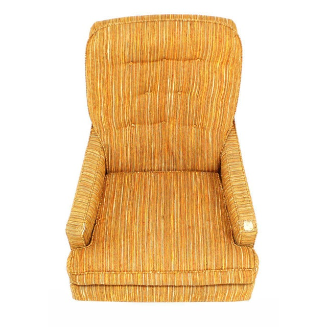 Selig Lounge Chair and Matching Ottoman with Upholstery For Sale In New York - Image 6 of 9