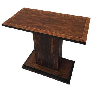French Art Deco Macassar Ebony Accent Table For Sale