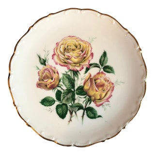 Bavarian Golden Crown Rose Plate