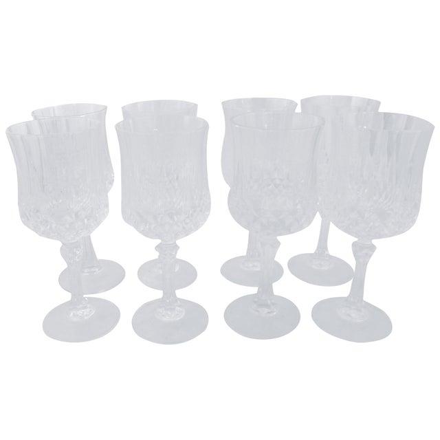 Vintage French Crystal Wine Glasses - Set of 8 - Image 1 of 6