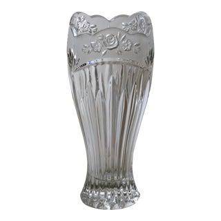 Lead Crystal Flower Vase For Sale