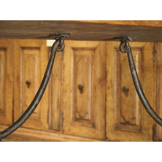 Antique Spanish Oak and Wrought Iron Dining Table Preview