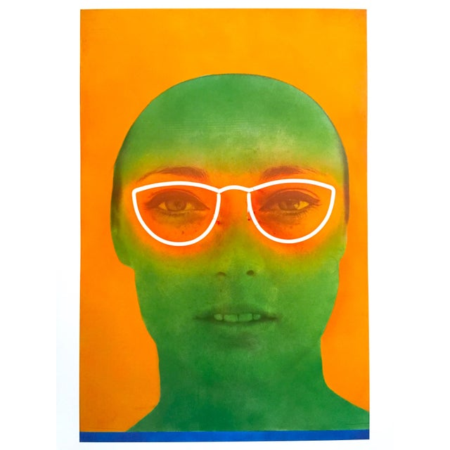 """2010s Martial Raysee Moderna Museet Stockholm Lithograph Print Pop Art Poster """" France Verte """" 1964 For Sale - Image 5 of 13"""
