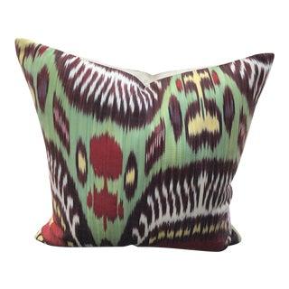 Silk & Cotton Ikat Pillows - A Pair