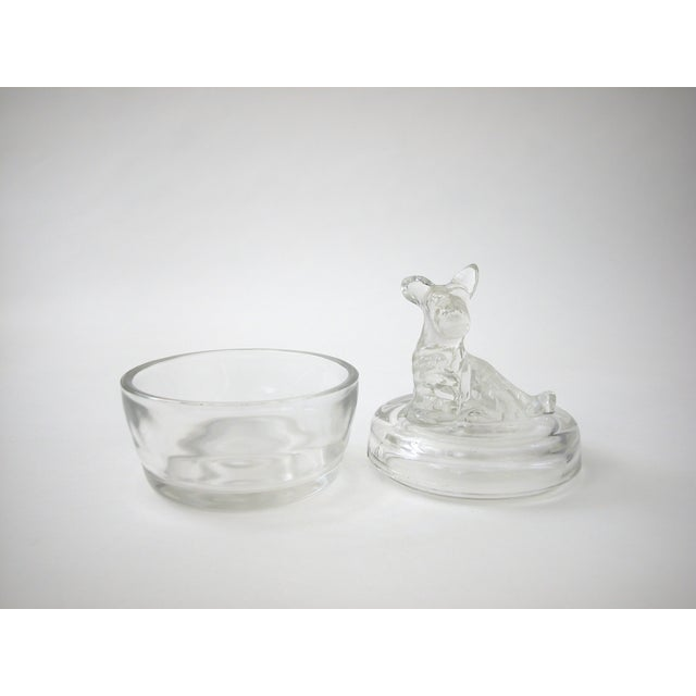 Lidded Glass Bowl with Dog - Image 7 of 10