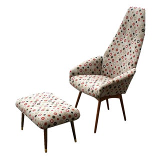 Adrian Pearsall for Craft Associates Lounge Chair & Ottoman For Sale