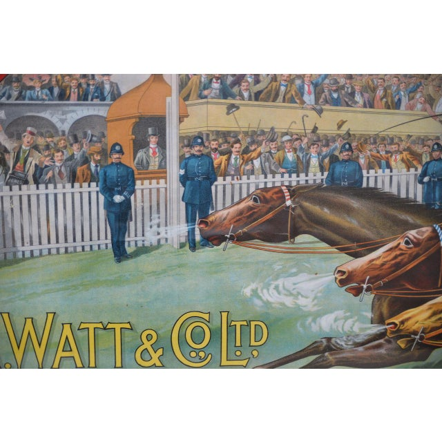 1001 to 1 Tyrconnell Wins! Victorian Whiskey Poster C.1900 For Sale - Image 9 of 12