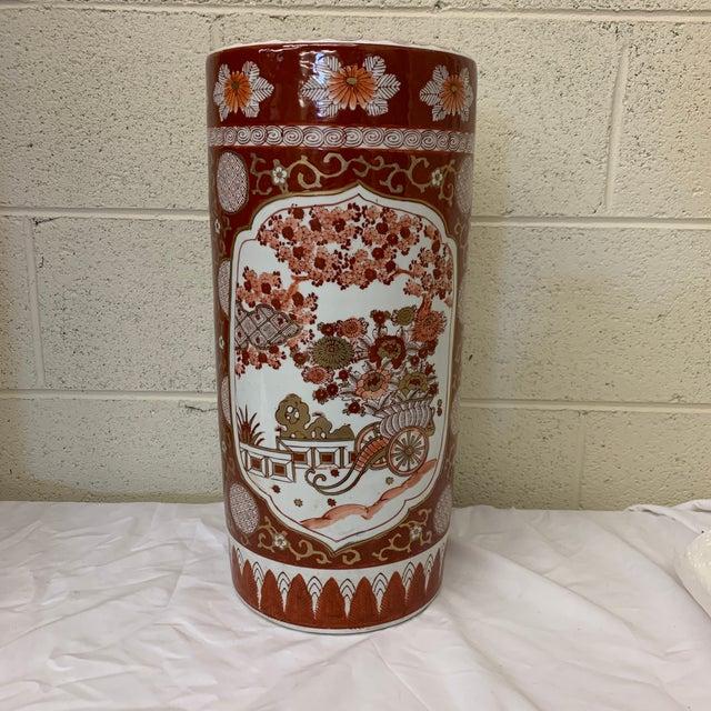 Vintage Gold Imari Umbrella Stand Vase For Sale - Image 11 of 11