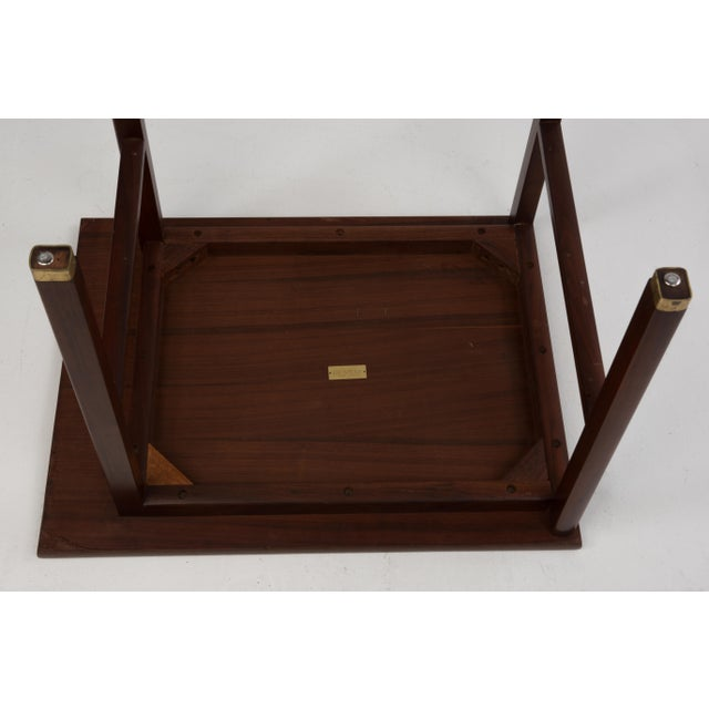Cantilevered Dunbar Side End Table Edward Wormley 1960s Marked For Sale - Image 9 of 12