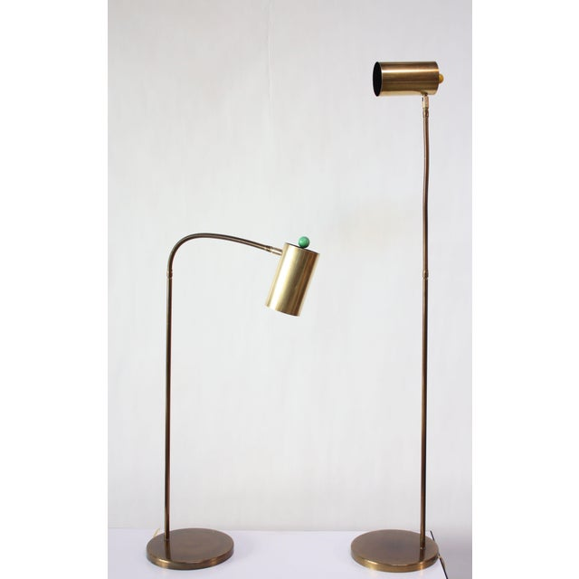 Koch & Lowy Pair of Brass Gooseneck Floor Lamps by Koch and Lowy For Sale - Image 4 of 12