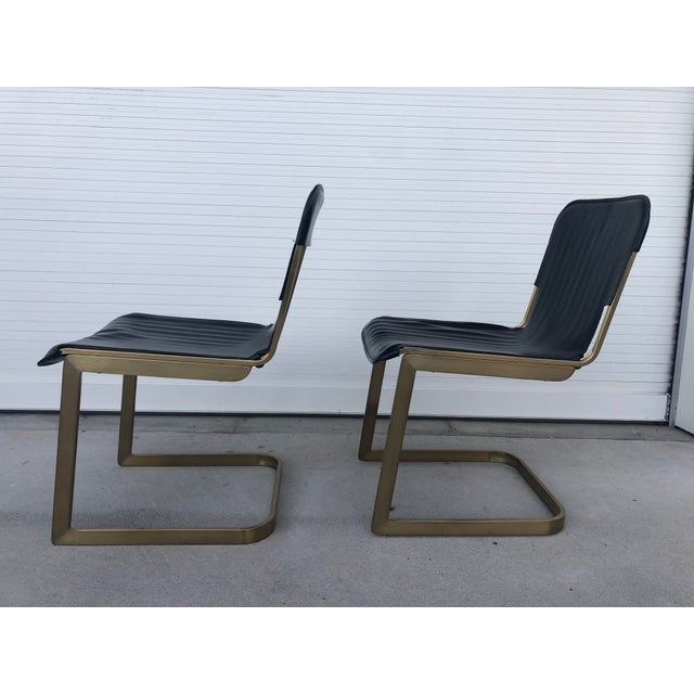 Modern Modern Rake Brass Chairs- A Pair For Sale - Image 3 of 6