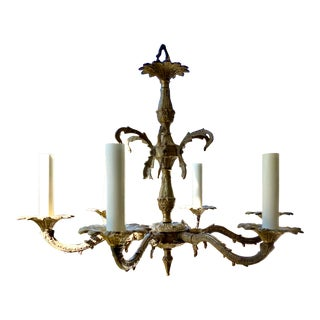 19th Century Victorian Gilt Bronze 6-Arm Chandelier For Sale