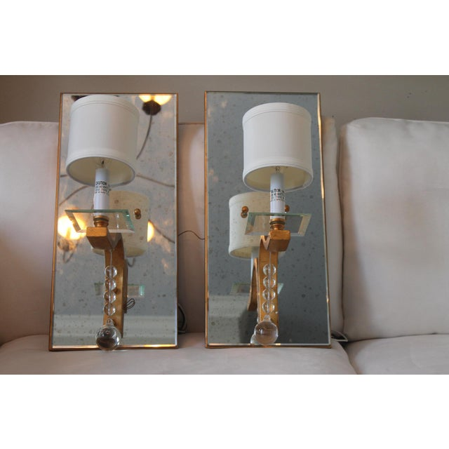 Gold Worlds Away Bette G Sconces - A Pair For Sale - Image 8 of 13