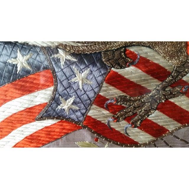 World War I Embroidered Souvenir American Eagle Flag - Image 5 of 8