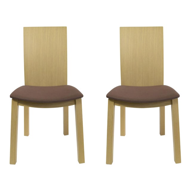 Idealsedia Italian Made Post Modern Side Chairs - a Pair For Sale