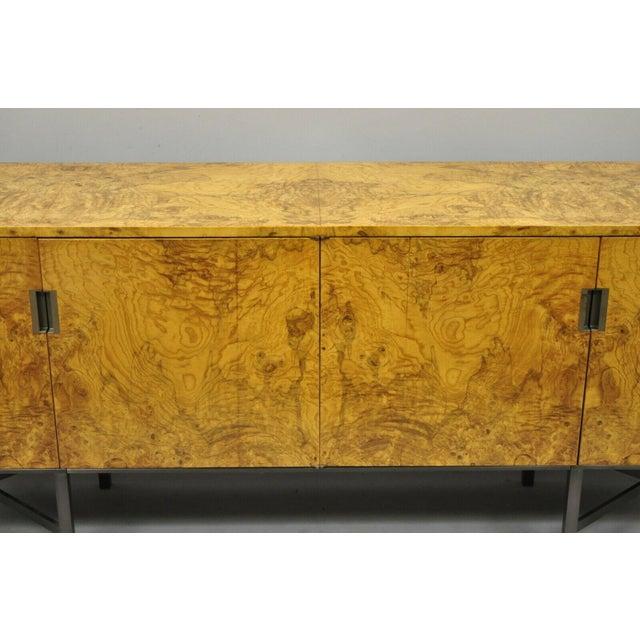 Dunbar Furniture Roger Sprunger for Dunbar Burled Olivewood Credenza For Sale - Image 4 of 13