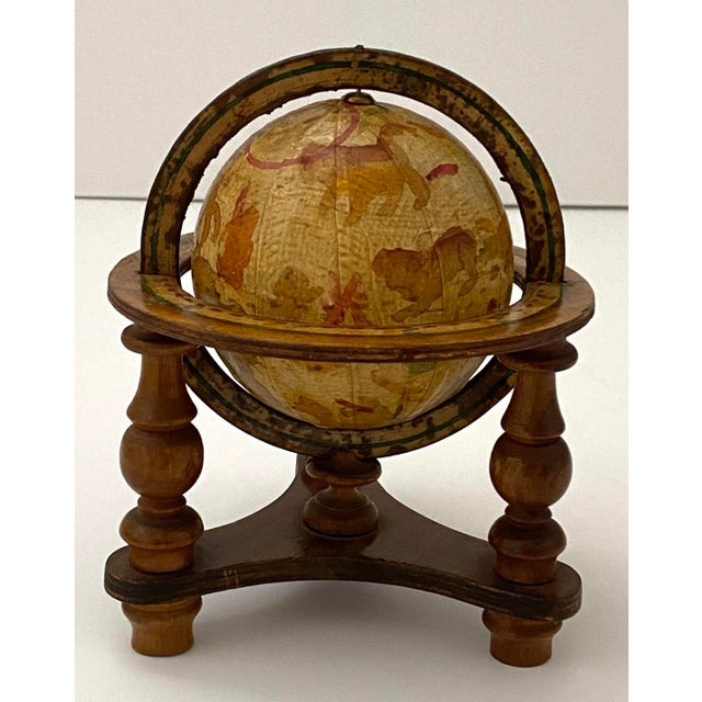 Vintage Artisan Fantasy Celestial Globe Antique Motif from a Palm Beach Estate The appears to be a handpainted pre-made...