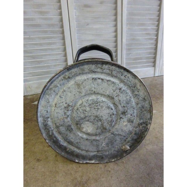 Vintage French Zinc Coal Scuttle-B For Sale - Image 6 of 6