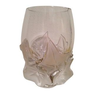 """Lalique """"Hedera"""" Ivy Leaf Vase"""