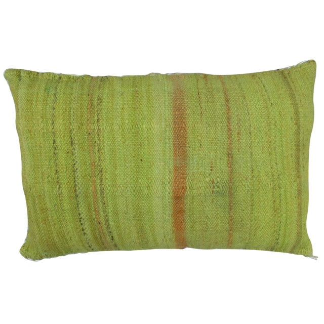 Moroccan Green Moroccan Pillow W/ Stripes For Sale - Image 3 of 4