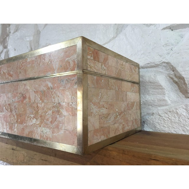 Maitland-Smith Stone & Brass Hinged Box - Image 4 of 7