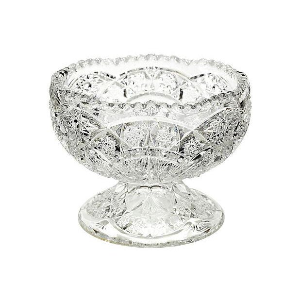 1930's Pressed Glass Footed Server - Image 1 of 2