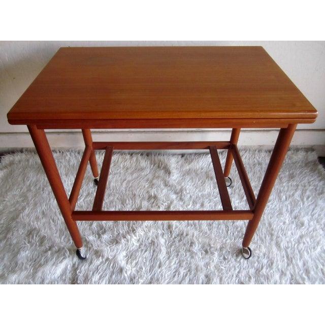 Danish Modern Mid-Century Bar Cart Table - Image 7 of 8