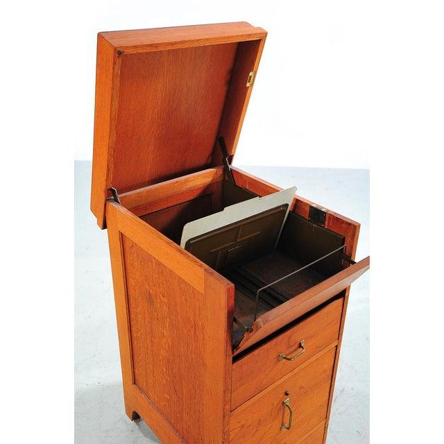 1930s Vintage Oak File Cabinet -2 Drawer - Image 6 of 9