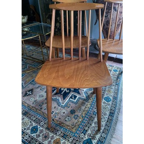Mid-Century Modern Folke Palsson for Fdb Mobler Mid Century Model J77 Chairs Circa 1970's For Sale - Image 3 of 11