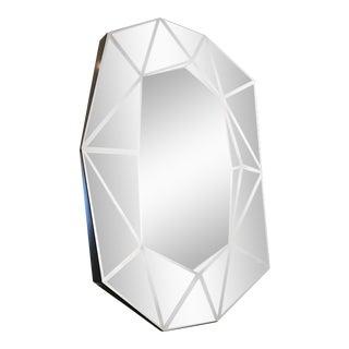 Modern Diamond Shape Wall Mirror For Sale