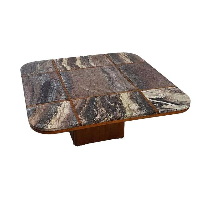 Bendixen Danish Modern Marble Top Coffee Table - Image 1 of 7