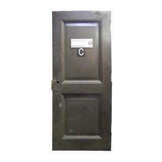 Reclaimed Metal Two Panel Fire Door