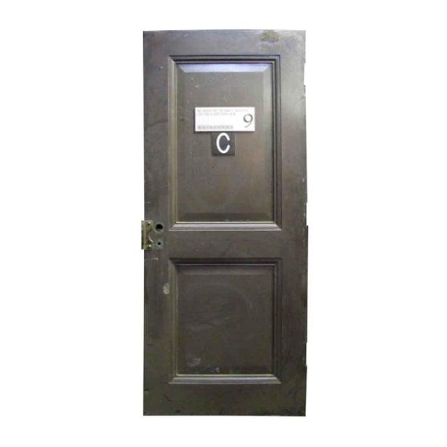 Reclaimed Metal Two Panel Fire Door - Image 1 of 5