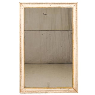 French Rectangular Early 19th Century Painted Wood Mirror For Sale