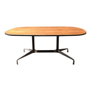 Herman Miller Aluminum Group Wanut Table / Desk