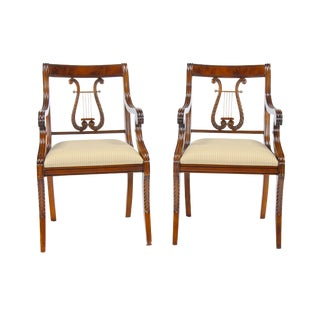 Harp Back Arm Chairs - Pair For Sale