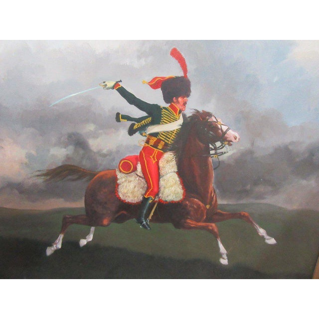 French Hussar Painting - Image 2 of 5