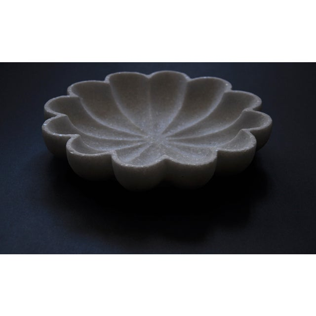 Marble Flower Bowl For Sale - Image 4 of 6
