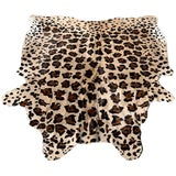 Image of Faux Leopard Print Hide Rug- 5′8″ × 6′11″ For Sale