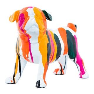 "Interior Illusions Plus Bulldog Rainbow Art Dog - 9"" long For Sale"
