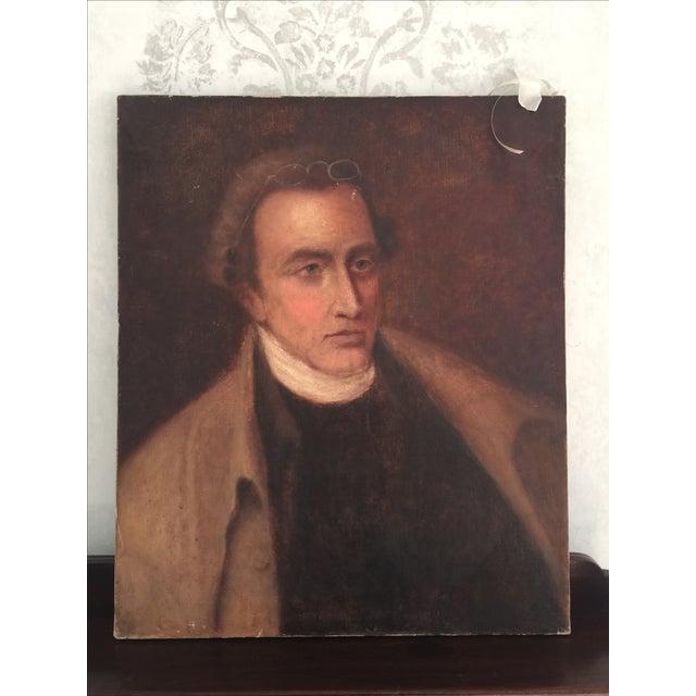 Vintage Oil Portrait Painting of a Gentleman - Image 2 of 4