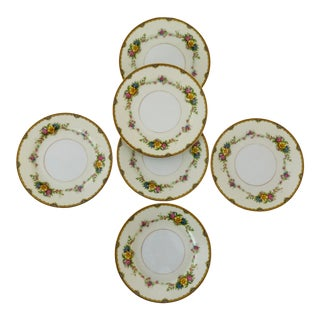 "Elegant Fine Noritake China Marked ""m"" Japan Bread , Dessert Plates S/6 For Sale"