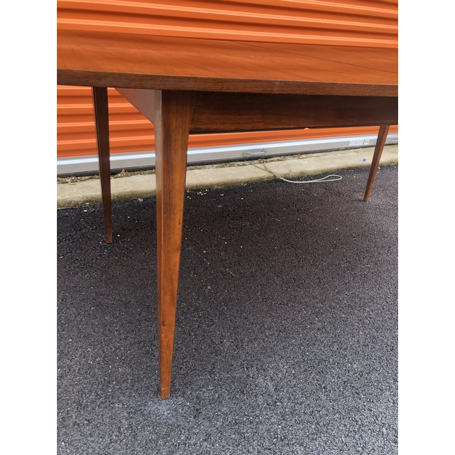 1960s 1960s Mid Century Modern Lane Bow Tie Tuxedo Dining Table For Sale - Image 5 of 7