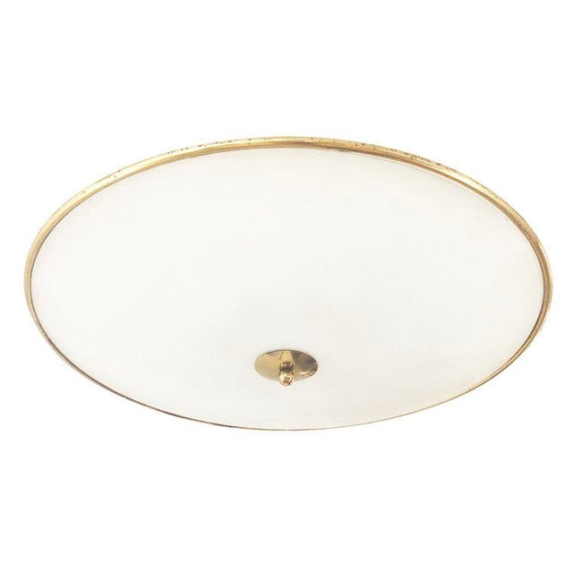 1940s 1940s Italian Large Flush Mount Fixture Attributed to Pietro Chiesa For Sale - Image 5 of 5