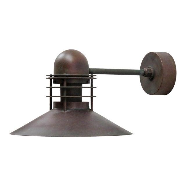Louis Poulsen Copper Outdoor Lamp, 1970 For Sale