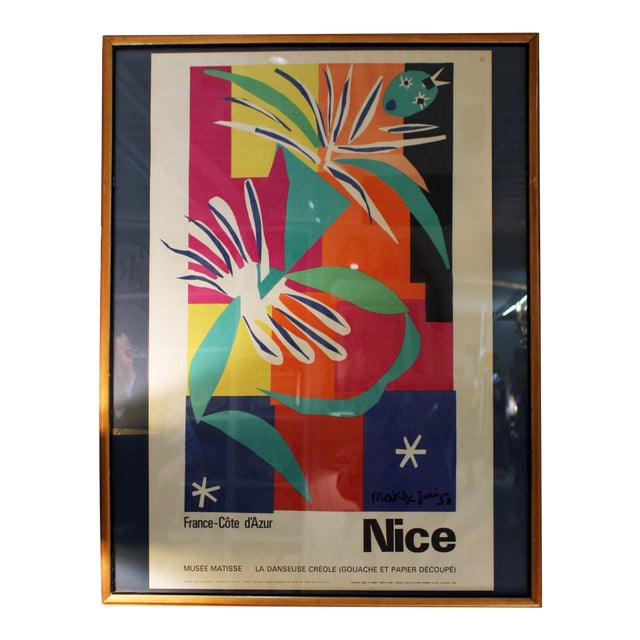 Vintage Travel Poster (1965 Matisse) For Sale