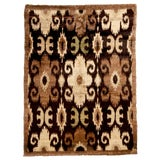 Image of New Afghan Beige and Black Goat Hair Rug For Sale