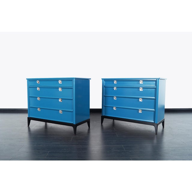 Danish Modern Vintage Lacquered Chest of Drawers For Sale - Image 3 of 8
