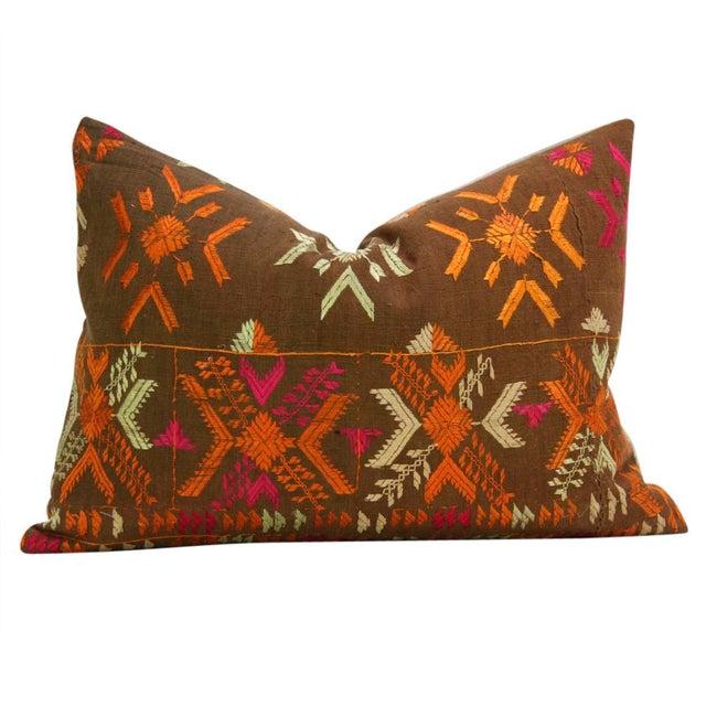 Akruthi Phulkari Pillow, Pair - Image 3 of 5