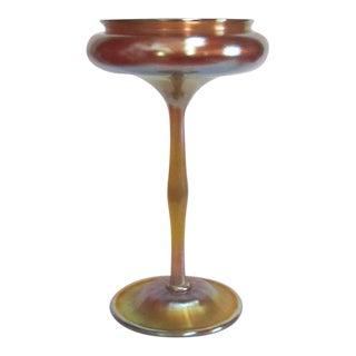 Tiffany Gold Favrile Epergne Flower Form Vase For Sale